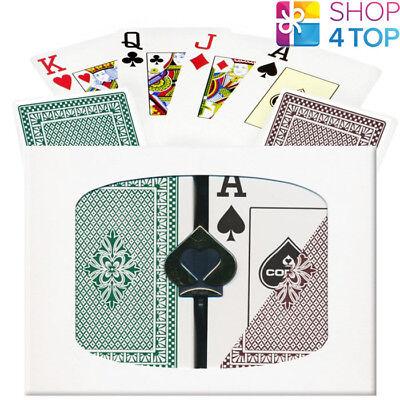 FOURNIER 2826 BRIDGE 100/% PLASTIC PLAYING CARDS DECK BLUE JUMBO INDEX CASINO NEW