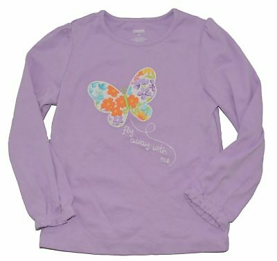 NWT Gymboree Butterfly Blossoms Pink Flower Long Sleeve Top Size 18-24 M