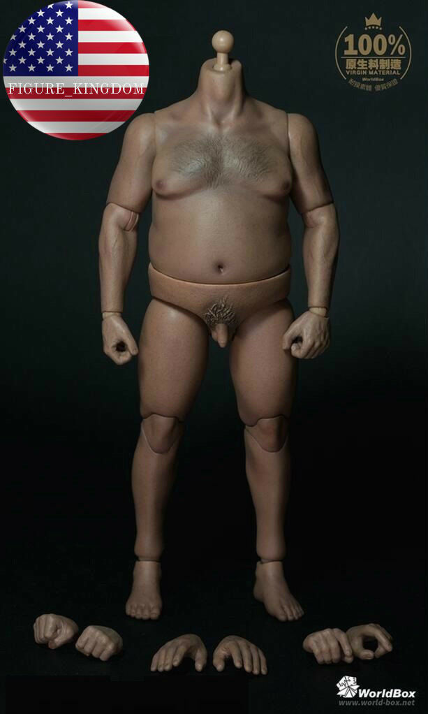 WorldBox 1 6 Durable Body Fat Plump Male Figure Body AT018 For Hot Toys WWE USA