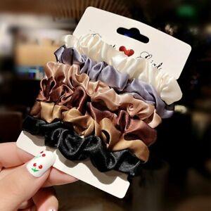6PCS-Elastic-Hair-Bands-Scrunchies-Bun-Ring-Scrunchy-Women-Girls-Ponytail-Holder
