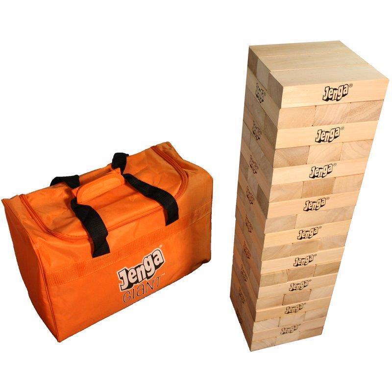 Jenga® Giant Board Game Classic Set Family Fun Easy Carry Hardwood Craft Nuovo