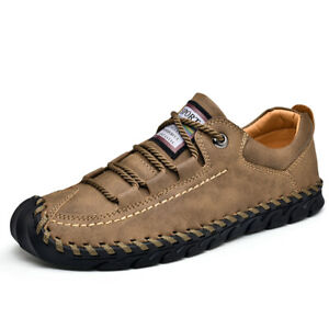 Mens-Leather-Casual-Shoes-Breathable-Non-slip-Loafers-Slip-on-Moccasins-Fashion