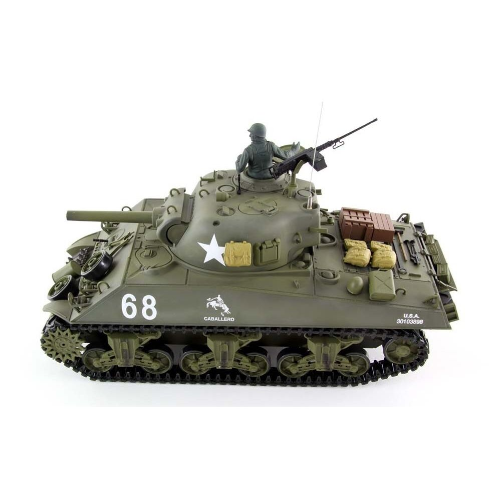 Radio Remote Control RC Tank 2.4G British Sherman 105 Howitzer 1 16 2 Sounds