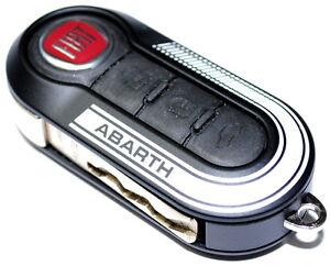 Fiat 500 Punto Abarth Key Remote Cover BLACK x 1 New Genuine 5741883B