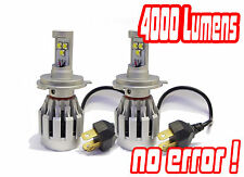 H4 Cree LED Headlight Bulbs Conversion Kit Hid Mitsubishi Evo Vi 99-01