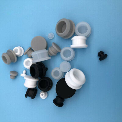 30mm Clear Silicone Rubber Snap-on Blanking End Caps Inserts Plug Bung 10.5mm