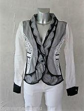 TRICOT CHIC luxueuse coat veste blazer viscose T 38 I42 COMME NEUVE valeur 460€