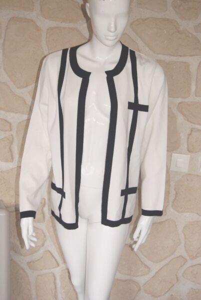 Consegna Veloce Gilet Blanc Et Noir Neuf Taille 46 Marque Griffon étiqueté à 89,90 € (ch)