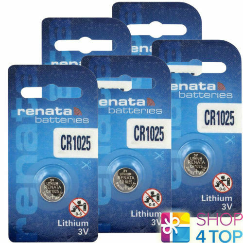 5 Renata cr1025 Lithium Batteries 3v Cell Coin Button Swiss Made Exp 2024 NEW