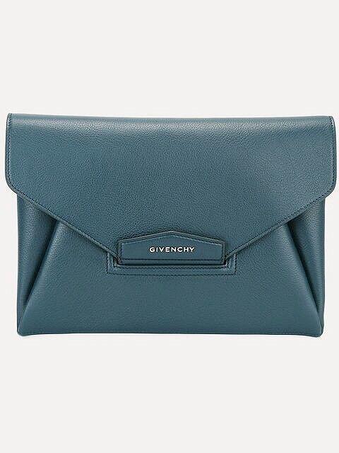 Brand New 100% Authentic Givenchy Medium Antigona Envelope Clutch In Jade
