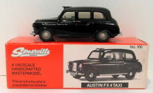 Somerville-Models-1-43-Scale-100-Austin-FX4-Taxi-Black