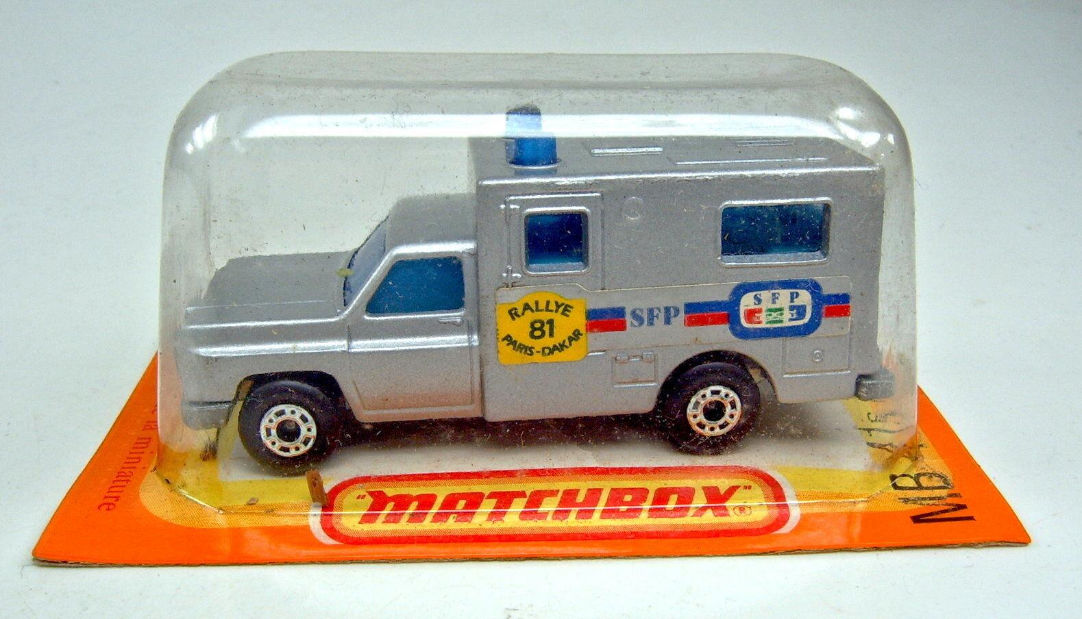 Matchbox Superfast Nr.41C Ambulance silber  Paris-Dakar '81  Sondermodell