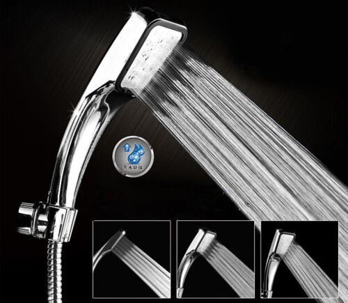 300-hole Pressurized Water-saving Shower Head ABS Chrome-plated Bathroom Shower