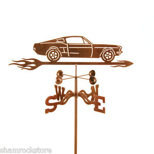 Car-039-67-Mustang-Weathervane-1967-Weather-Vane-Complete-w-Choice-of-Mount