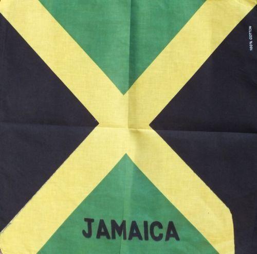 JAMAICA FLAG BANDANA BANDANNA HEAD//WRIST SCARF NECKERCHIEF HEAD WRIST UK B3
