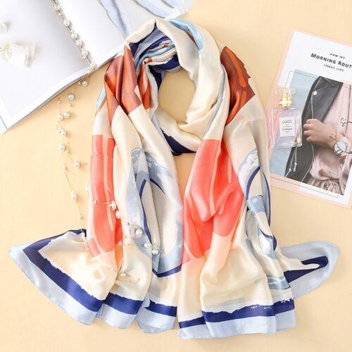 Women/'s Silk Scarf Beach Scarf and Echarpe Luxury Wrap Designer Scarves BP