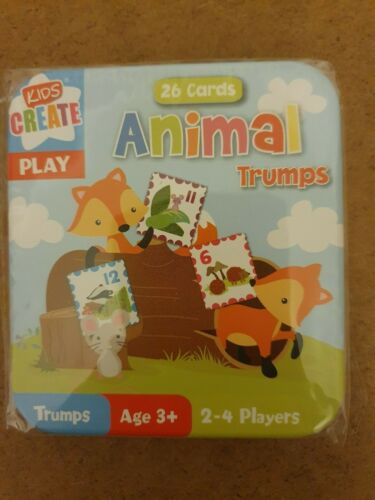 "CHILDREN PLAYING CARDS in TIN /""SNAP /& TRUMPS/"" KIDS GAMES FAMILY INDOOR ACTIVITY"