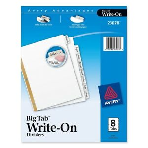 Avery-Big-Tab-Write-on-Divider-With-Erasable-Tab-Write-on-8-Tab-s-set