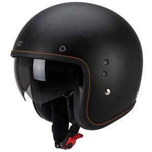 Scorpion-Belfast-Solid-Moto-Casque-Jet-Noir-Mat