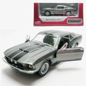 Kinsmart-1-38-Die-cast-1967-Shelby-GT500-Car-Grey-Model-with-Box-Collection