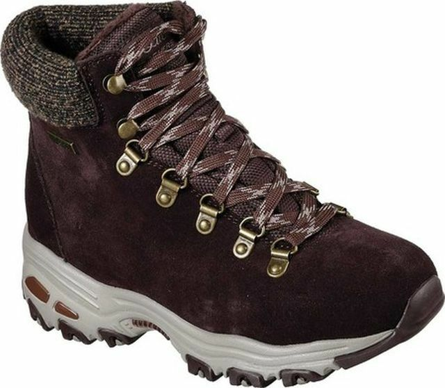 SKECHERS D'LITES POWDER WOMEN'S BOOTS ASST SIZES 48817/CHOC NEW IN BOX