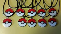 Lot Of 10 Party Favors Necklaces Pokemon Pokeball Charmshard To Find