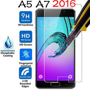 2-x-Genuine-Tempered-Glass-9H-Screen-Protector-For-Samsung-Galaxy-A5-A7-2016