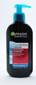 Garnier-Pure-Active-Charcoal-Anti-Blackhead-Cleansing-Gel-200ml-Oily-Skin-Spots