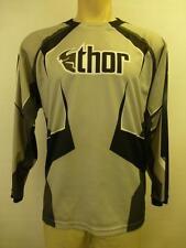 mens black gray THOR MX Phase Motocross racing motorcycle dirt bike Shirt Small