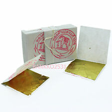100 GENUINE REAL PURE GOLD LEAF 24K EDIBLE SPA fOOD GRADE FREE SHIPPING