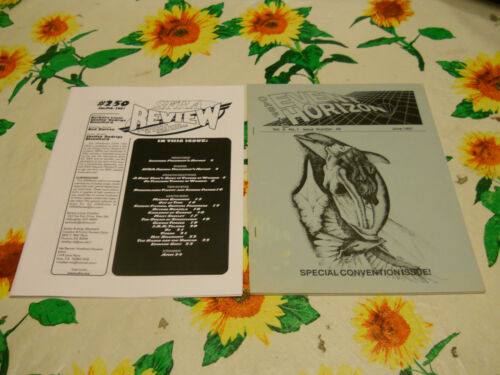 2 FANZINES SFRA REVIEW #250 + EVENT HORIZON JUNE 1991 COLLECTIBLE CONDITION