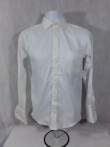 Men-039-s-Size-16-Junior-Adonis-French-Cuff-Long-Sleeve-Dress-Shirt-100-Cotton