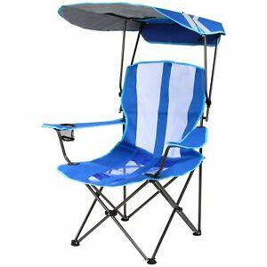 SwimWays Kelsyus Adults Canopy Portable Beach Chair - Blue