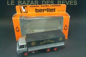 """LOUIS SURBER. BERLIET GRH 230. promotionnel """"BENOIT FORTANT""""+ Boite.Echelle 1/43"""