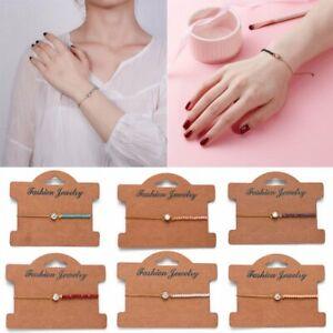 Fashion-Charm-Wish-Bracelets-Friendship-Birthday-Bridesmaid-Chain-Bracelet-Gifts