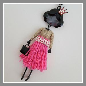 Prix mini sautoir Collier Lolilota LOL BIJOUX les pépettes doré rose couronne