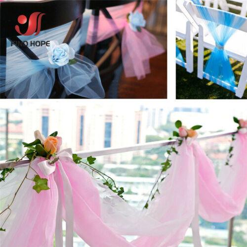 5M Organza Fabric Tutu Tulle Roll Gift Craft Bridal Dress Wedding Venue Decorate