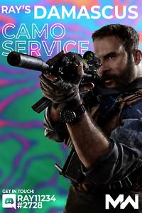 Damascus Camo Service Ps4 Pc Xbox Call Of Duty Modern Warfare Cod