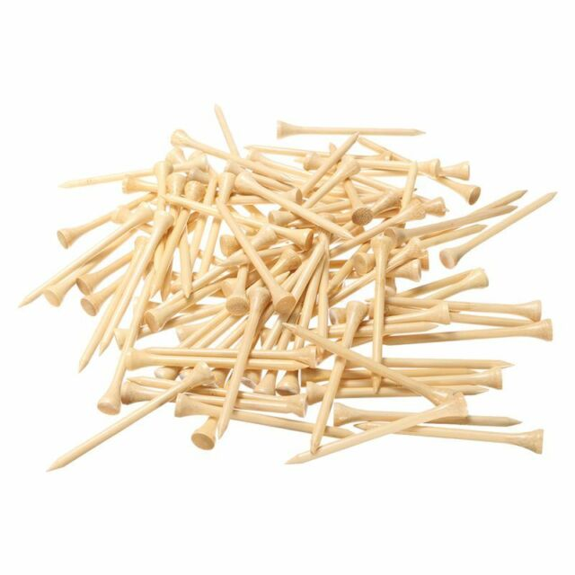 100X Burlywood Wooden Professional Golf Tees 83Mm 3 1/4 Inch Length Golfer  G7I4