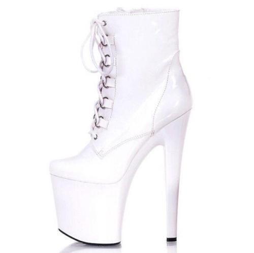 Sexy Womens Lace Up Super Stiletto High High High Heel Platform Pumps Ankle Boots shoes N3 06de49