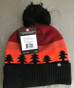 2020-NWT-686-Boys-Kids-Youth-Vintage-Pom-Beanie-Hat-Snowboard-Orange-m41d
