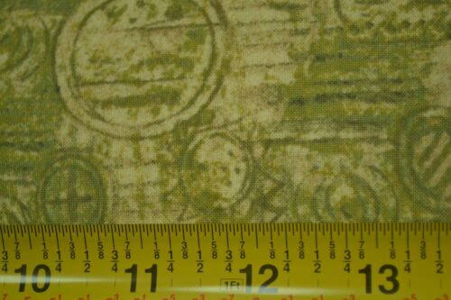 """By-the-Half-Yard A524 Olive-Greens on Quilter/'s Cotton Legacy Studio 42/"""""""