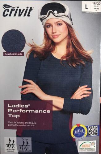 Crivit Ladies Thermal Performance Top  Base Layer Ski Warm Size L Fits 18-20