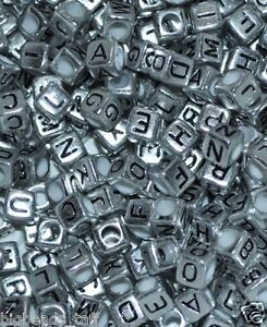 Cube Letter Bead Letter Bead D Silver Alphabet Bead 10 Metal Alphabet Bead Metal Letter Bead Craft Bead Personalized Bead