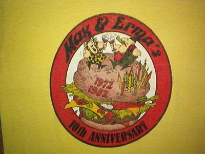 Diszipliniert Vintage 1982 Max & Erma's Hemd Restaurant Klein 80's Weichsten Online Shop