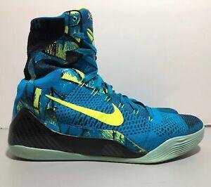 detailed look e852e 0910a Image is loading Nike-Kobe-9-IX-Elite-Perspective-Neon-Turquoise-