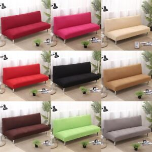 Image Is Loading Folding Armless Sofa Bed Futon Cover Furniture Seater