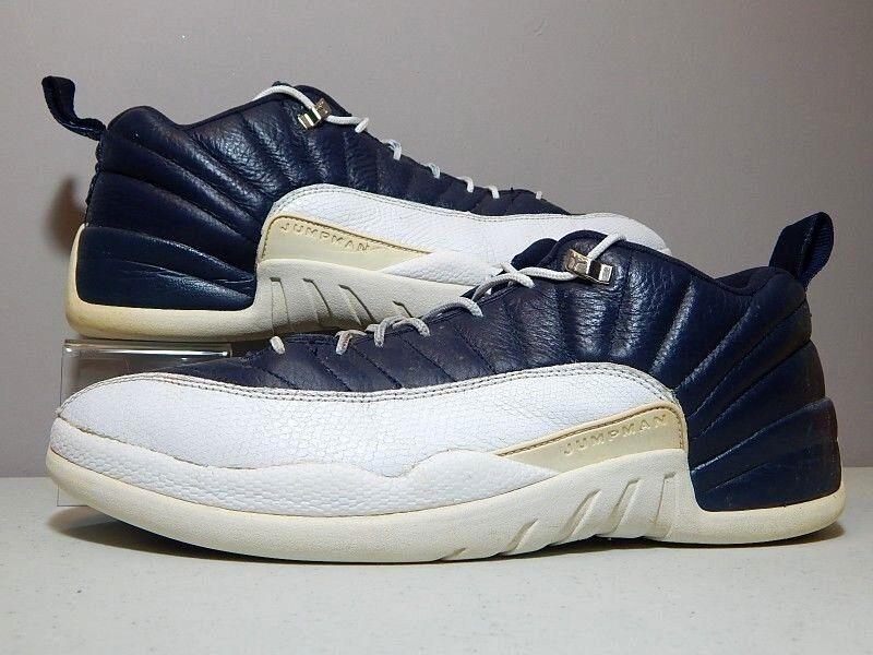 Nike Shoes - 2004 Jordan 12 XII Low Obsidian - University Blue White - Size 14