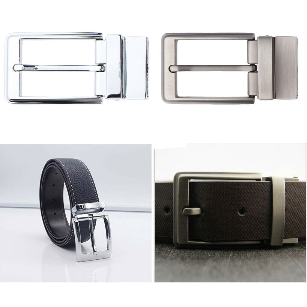 Reversible Alloy Belt Buckle Single Prong Rectangle Pin Buckle Replacement