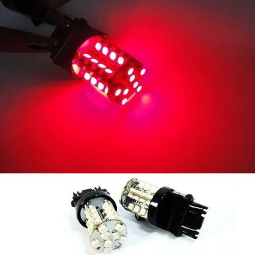 2 PCS of 3157 3156 3457 3057 RED 40 SMD LED Brake Light Bulb For CHEVROLET CHEVY